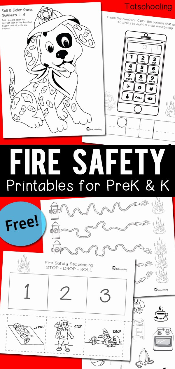 911 Worksheets for Preschoolers Unique Fire Safety Worksheets for Prek & Kindergarten