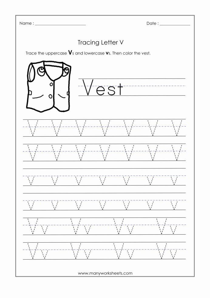 Abc Worksheets for Preschoolers Lovely Letter Worksheets for Kindergarten Trace Dotted Letters