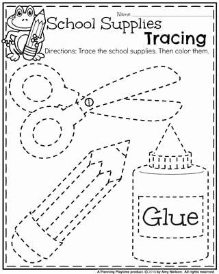 Activity Worksheets for Preschoolers Beautiful Back to School Preschool Worksheets Planning Playtime