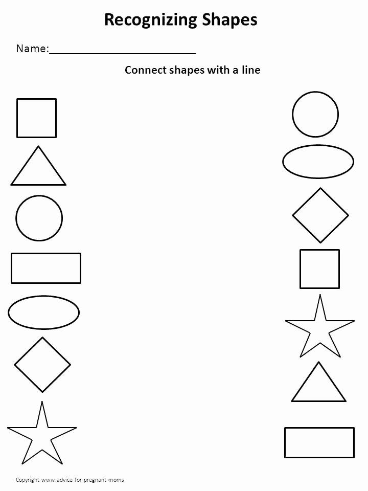 Activity Worksheets for Preschoolers Lovely Worksheet for Preschool – Shapes 2