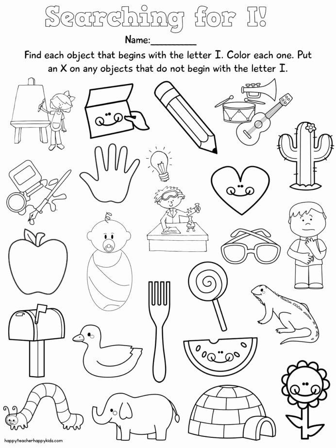 Activity Worksheets for Preschoolers New Ii Phonics Worksheets Printable and Activities for Letter