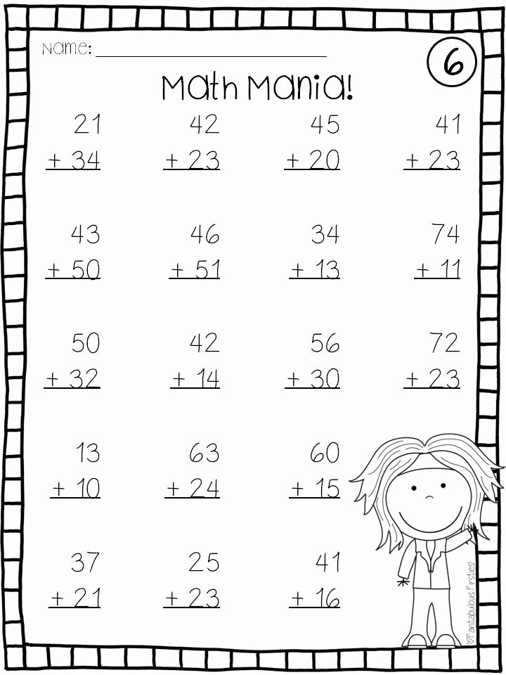 Addition and Subtraction Worksheets for Preschoolers New Coloring Pages Addition and Subtraction Double Digit Math