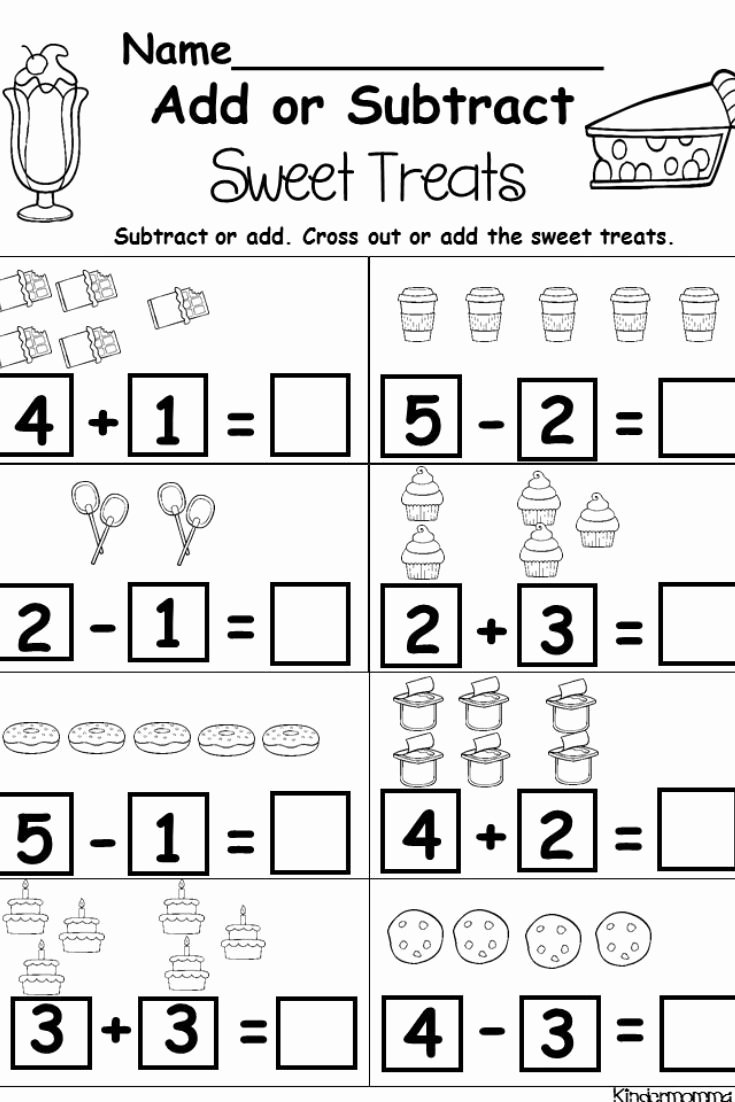 Addition and Subtraction Worksheets for Preschoolers New Kindergarten Addition and Subtraction Printables