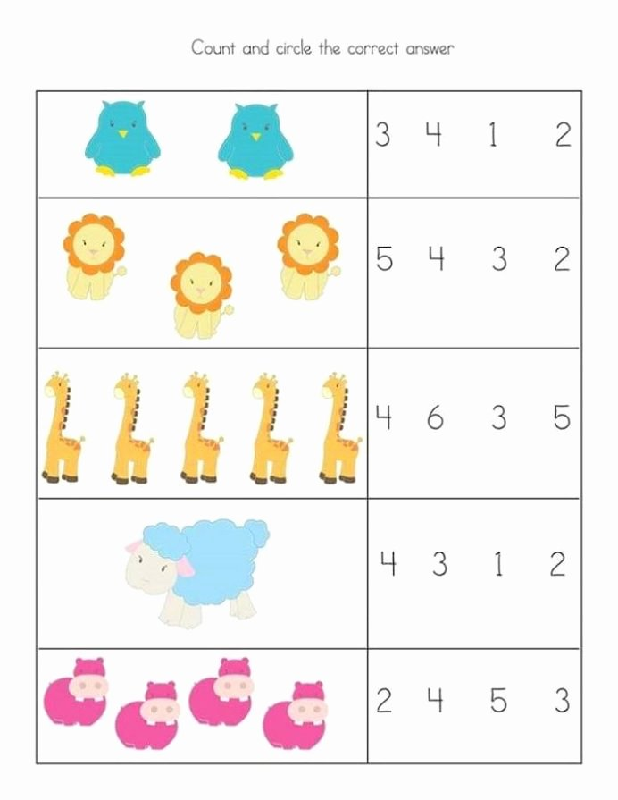 Addition Worksheets for Preschoolers with Pictures Beautiful Free and Printable toddler Worksheets Kids Math Simple for