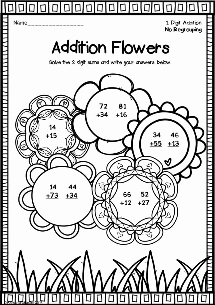 Addition Worksheets for Preschoolers with Pictures New Fun Double Digit Addition Worksheets Worksheets Sat Math