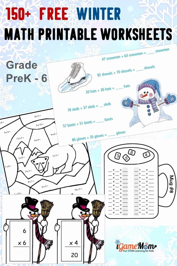 Addition Worksheets for Preschoolers with Pictures top 150 Free Winter Math Printable Worksheets