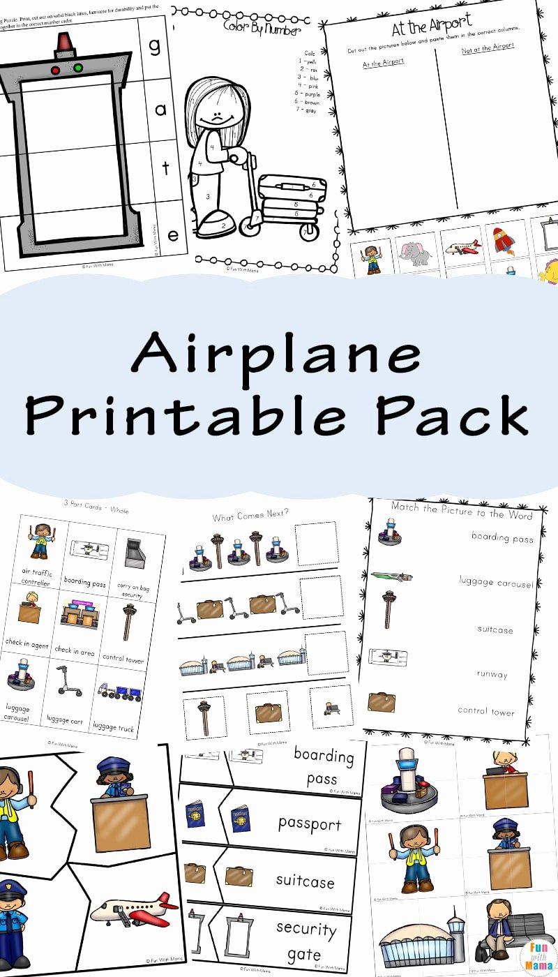 Airplane Worksheets for Preschoolers Beautiful Airplane for Kids Fun with Mama