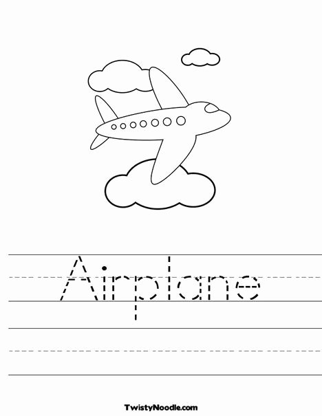 Airplane Worksheets for Preschoolers Beautiful Airplane Worksheet