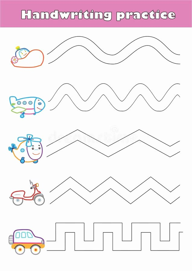 Airplane Worksheets for Preschoolers Fresh Trace Line Worksheet for Preschool Kids with Car Helicopter