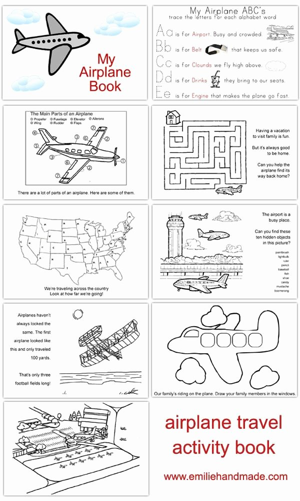 Airplane Worksheets for Preschoolers Inspirational Airplane Activity Book