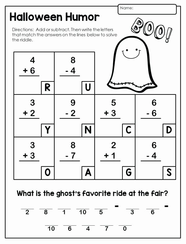 Airplane Worksheets for Preschoolers Unique 2nd Grade Worksheets Halloween Math Fun Airplane Problems
