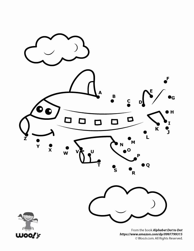 Airplane Worksheets for Preschoolers Unique Printable Alphabet Dot to Worksheets Woo Jr Kids Activities