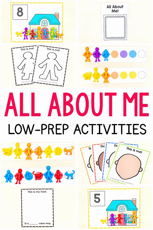 All About Me Printable Worksheets for Preschoolers Awesome All About Me Activities