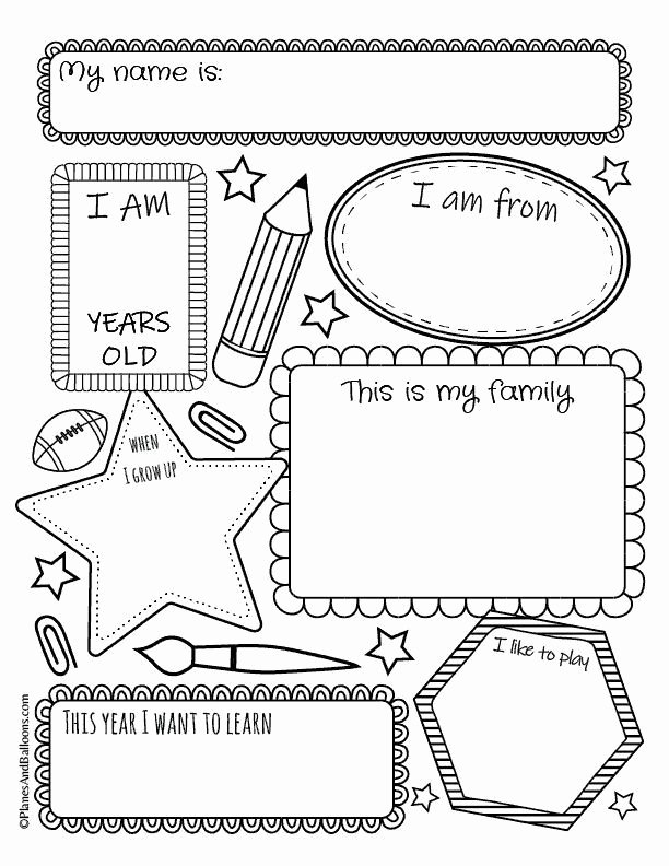 All About Me Printable Worksheets for Preschoolers Awesome All About Me Worksheets Free Printable Perfect for Back to