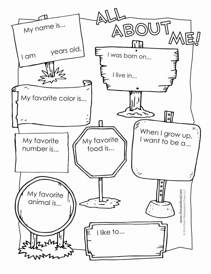 All About Me Printable Worksheets for Preschoolers Awesome All About Preschool Template Best Printable