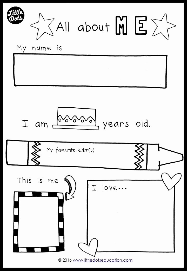 All About Me Printable Worksheets for Preschoolers Beautiful Free All About Me Preschool theme Printable for Pre K or