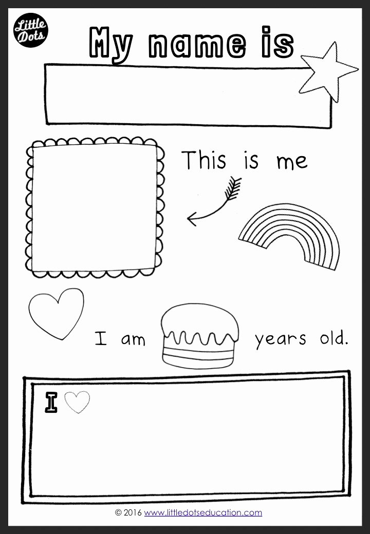 All About Me Printable Worksheets for Preschoolers Lovely All About Myself theme Activities and Printables