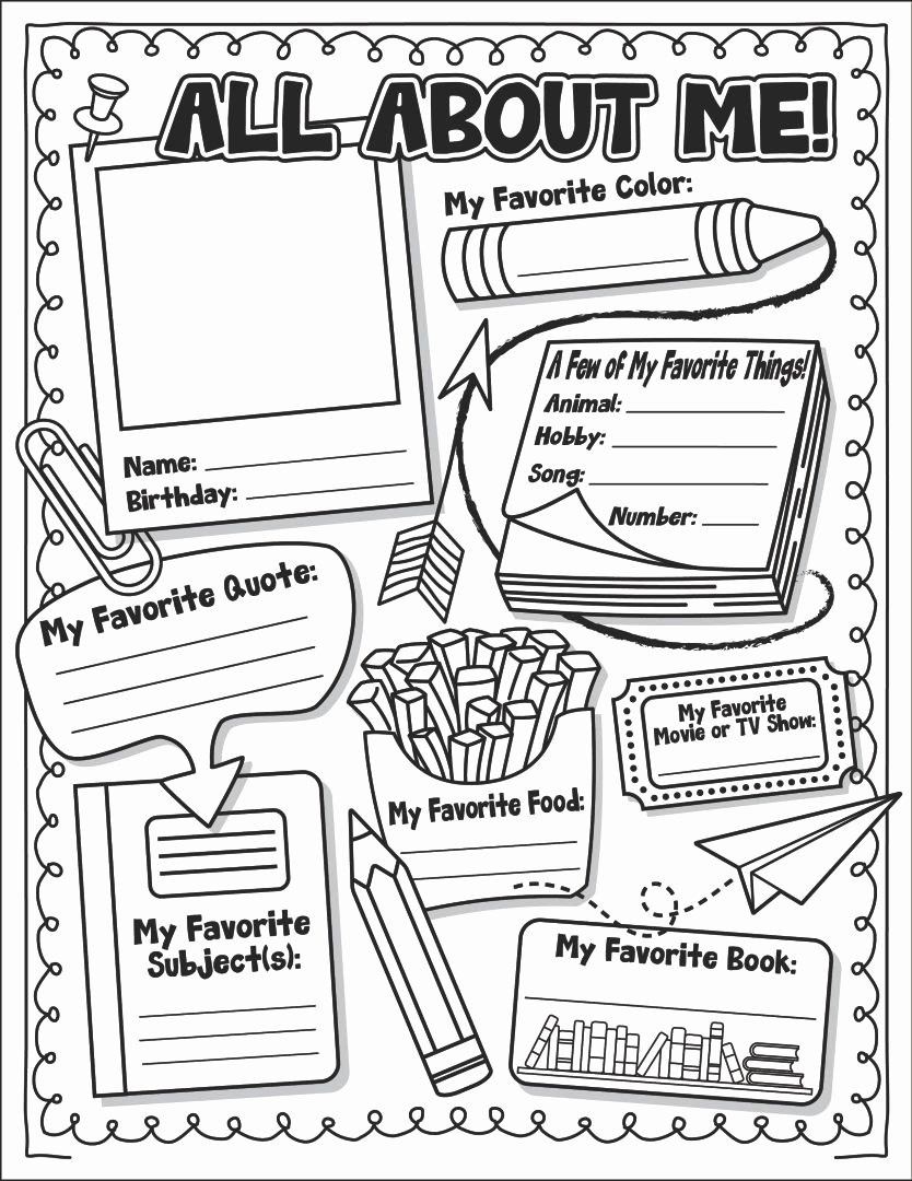 All About Me Printable Worksheets for Preschoolers Unique 6 Best Of All About Me Printable Template All About