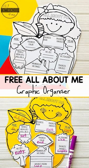 All About Me Printable Worksheets for Preschoolers Unique All About Me Graphic organizer