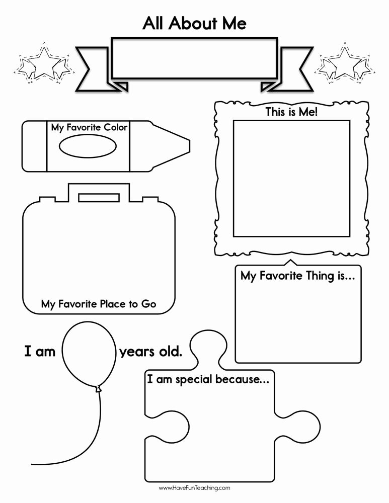 All About Me Worksheets for Preschoolers Awesome About Me Worksheet