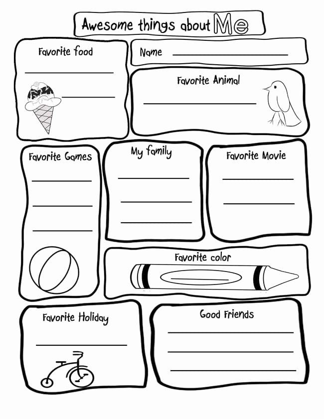 All About Me Worksheets for Preschoolers Awesome Amazing All About Activities Printables Printable Worksheets