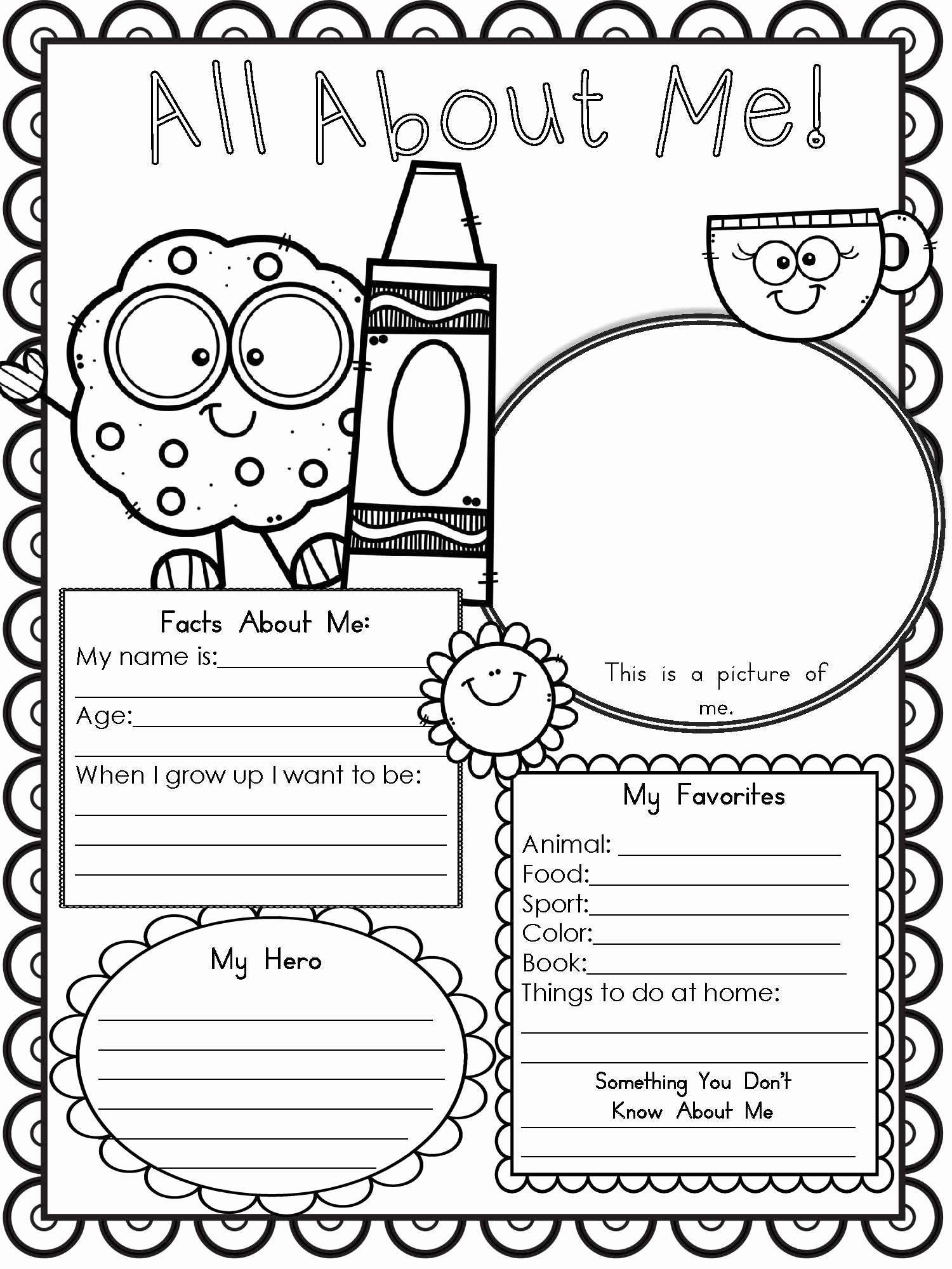 All About Me Worksheets for Preschoolers Best Of Free Printable All About Me Worksheet Modern Homeschool Family