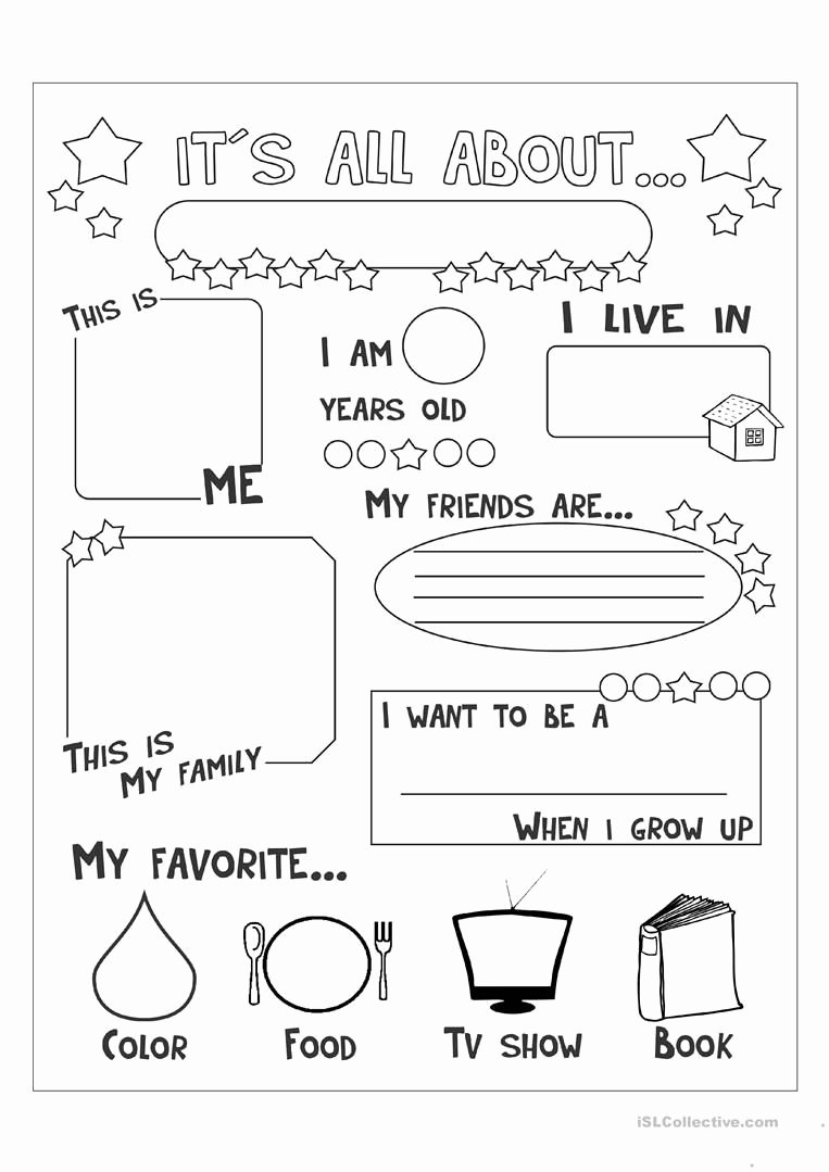 All About Me Worksheets for Preschoolers Fresh All About Me English Esl Worksheets for Distance Learning