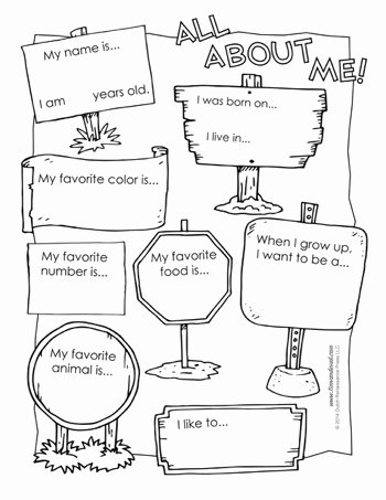 All About Me Worksheets for Preschoolers Fresh All About Me Worksheet Tim S Printables