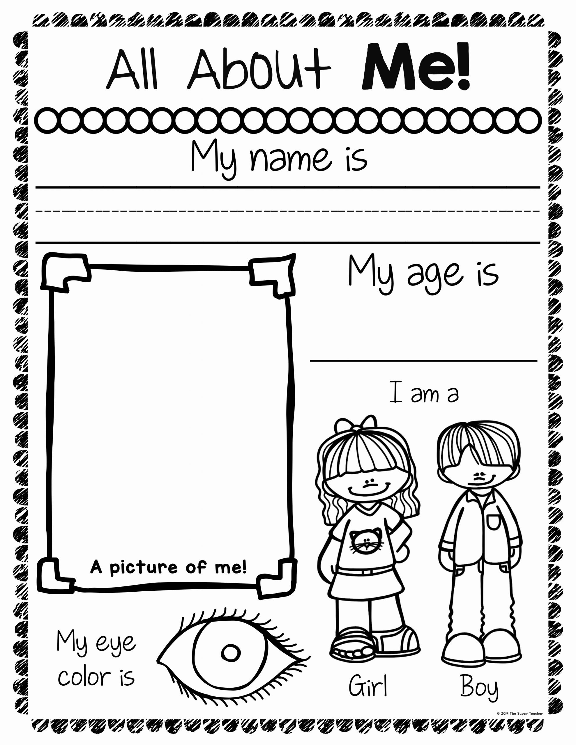 All About Me Worksheets for Preschoolers Fresh All About Me Worksheets