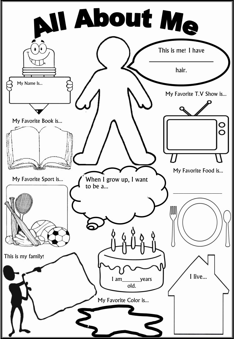All About Me Worksheets for Preschoolers Inspirational 6 Best Of All About Me Printable Template All About