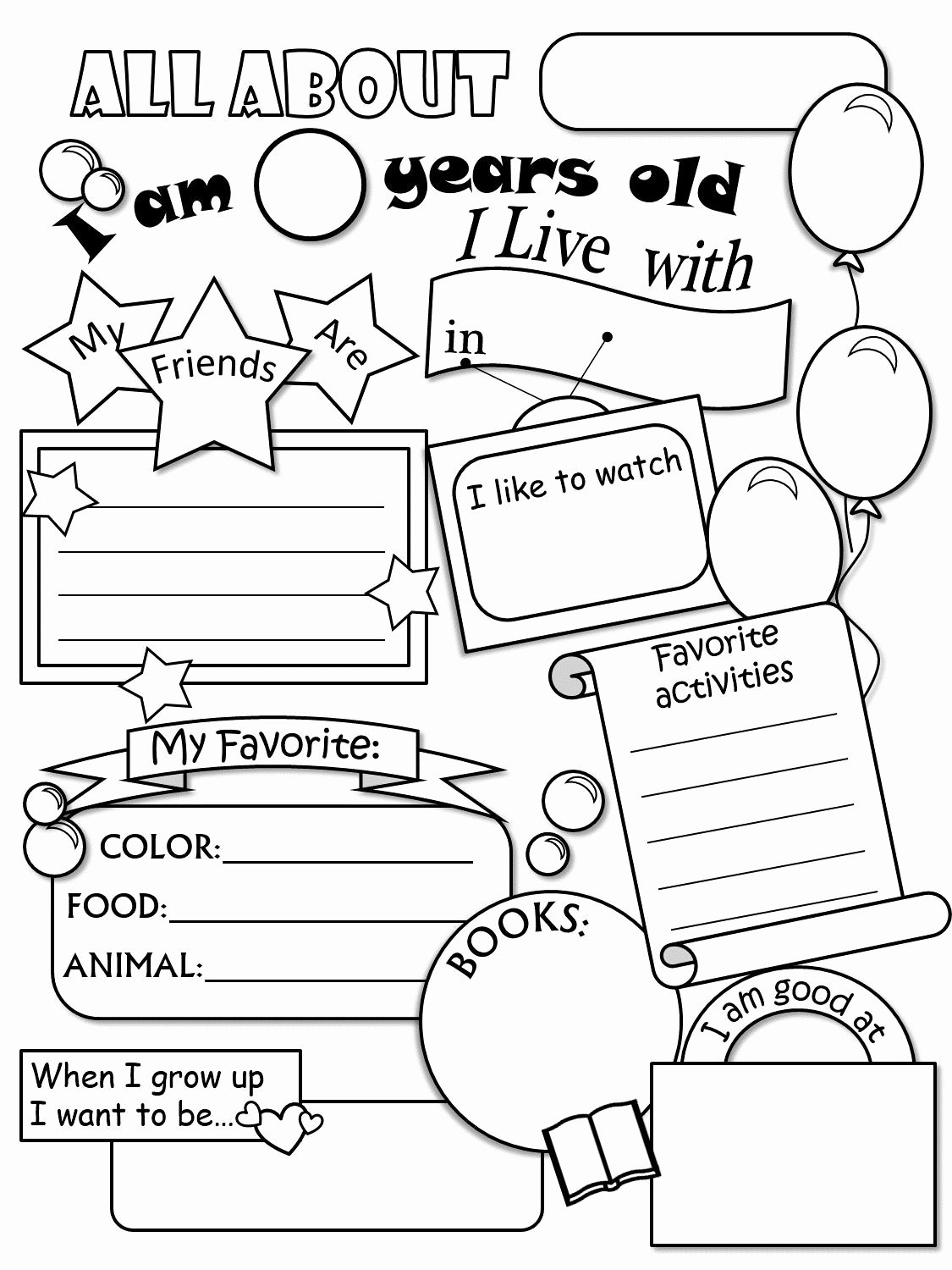 All About Me Worksheets for Preschoolers Lovely All About Me Worksheet