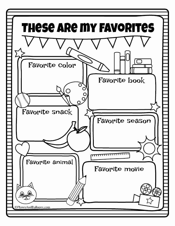 All About Me Worksheets for Preschoolers New All About Me Worksheets Free Printable Perfect for Back to