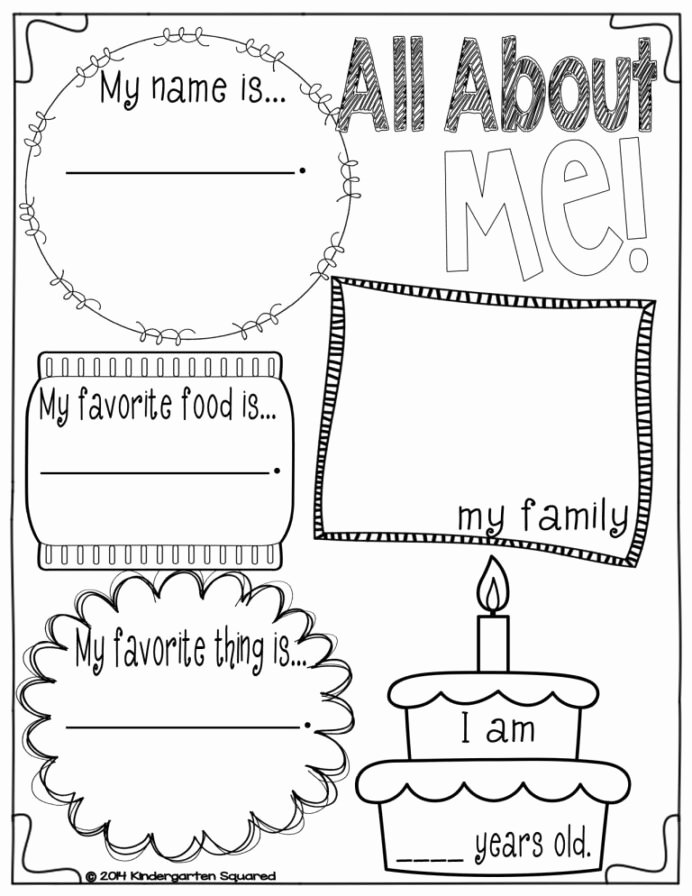 All About Me Worksheets for Preschoolers Unique Back to School Galore for Kinders In All About Preschool