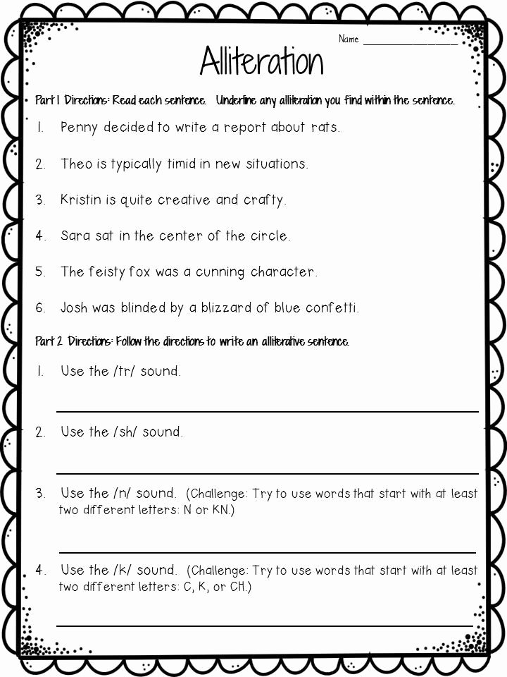 Alliteration Worksheets for Preschoolers Best Of Ideas Of Alliteration Worksheets Ks1 About form