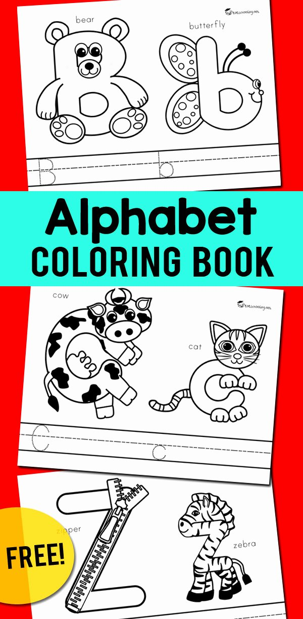 Alphabet Coloring Worksheets for Preschoolers Fresh Alphabet Coloring Book