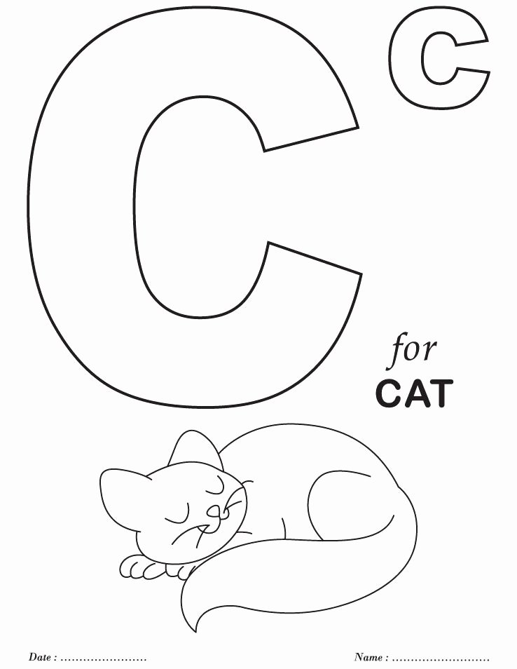 Alphabet Coloring Worksheets for Preschoolers New Coloring Books Alphabet Coloring Pages for toddlers