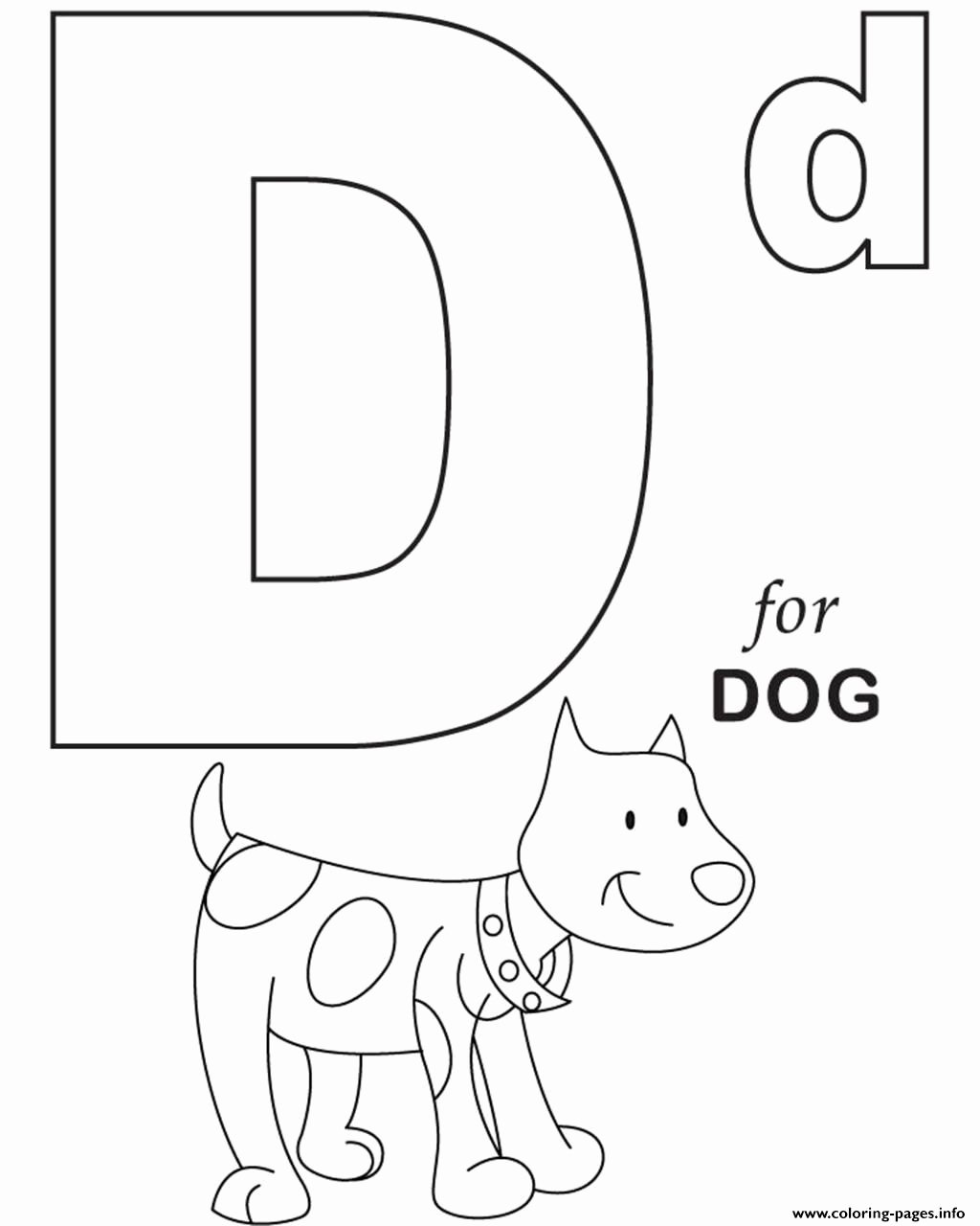 Alphabet Coloring Worksheets for Preschoolers New Excelent Printable Alphabet Coloring Pages for Dog S29a7c