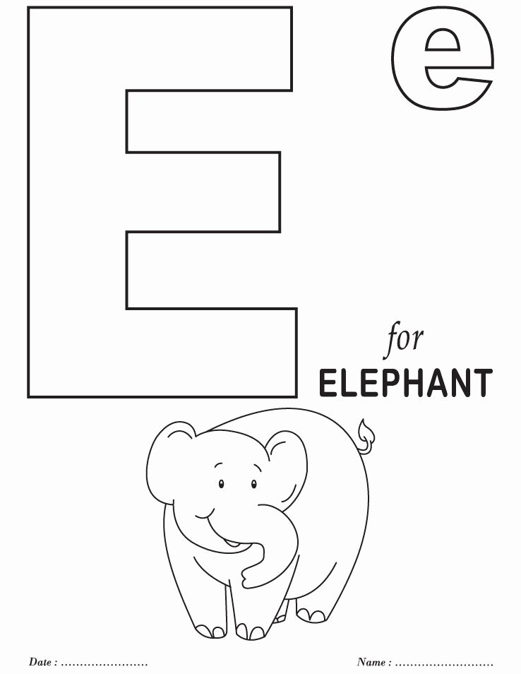 Alphabet Coloring Worksheets for Preschoolers New Printables Alphabet E Coloring Sheets