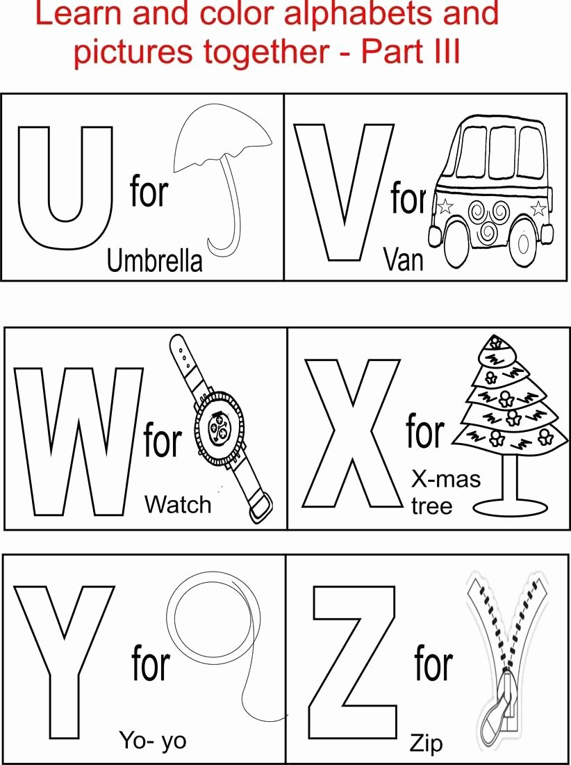 Alphabet Colouring Worksheets for Preschoolers Best Of Alphabetloring Worksheets for Kindergarten In Letters