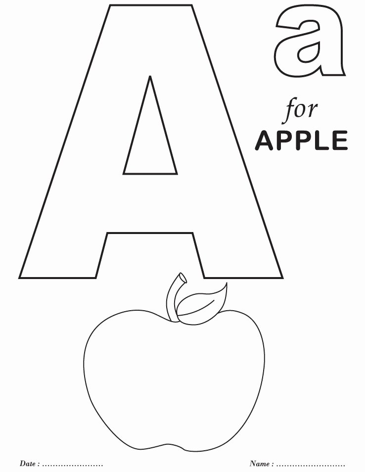 Alphabet Colouring Worksheets for Preschoolers Best Of Printables Alphabet A Coloring Sheets