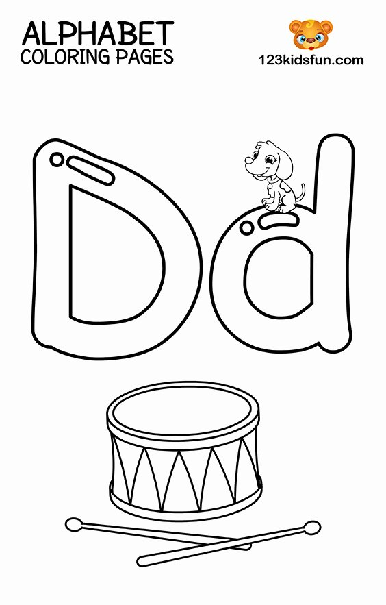 Alphabet Colouring Worksheets for Preschoolers New Free Printable Alphabet Coloring Pages for Kids