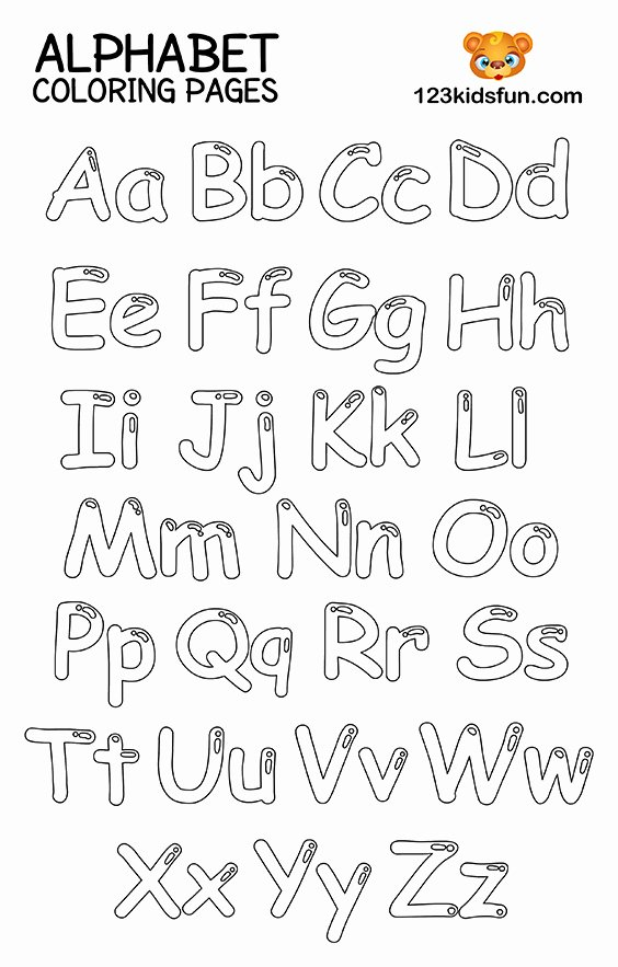 Alphabet Colouring Worksheets for Preschoolers top Free Printable Alphabet Coloring Pages for Kids
