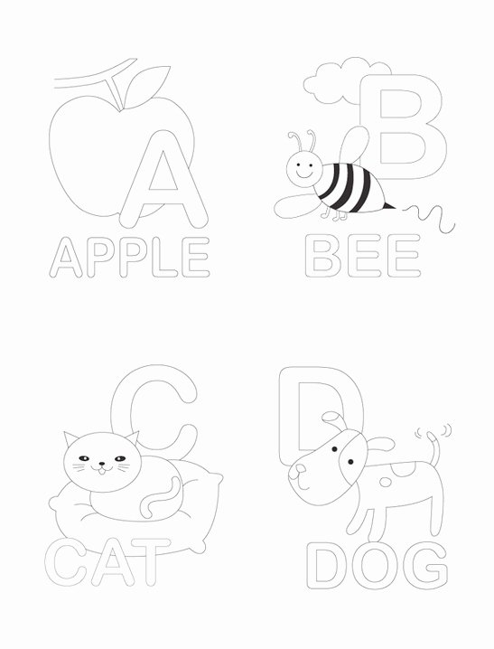 Alphabet Colouring Worksheets for Preschoolers Unique Alphabet Coloring Pages Mr Printables