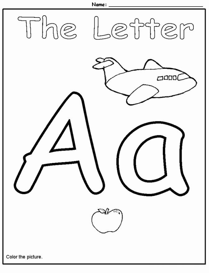 Alphabet Learning Worksheets for Preschoolers Awesome Coloring Pages 50 Alphabet Worksheet for Kindergarten