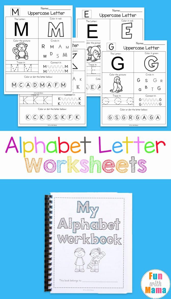Alphabet Learning Worksheets for Preschoolers Inspirational Math Worksheet 53 Marvelous Learning Worksheets for