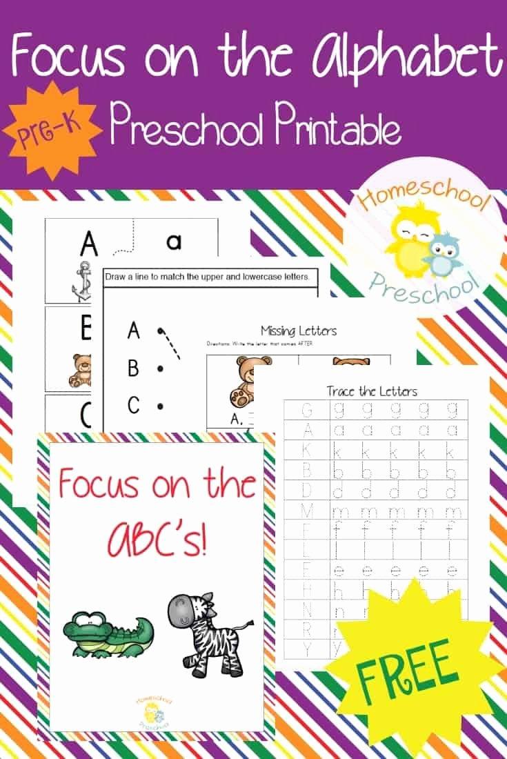 Alphabet Learning Worksheets for Preschoolers Unique Free Printable Alphabet Worksheets for Preschoolers
