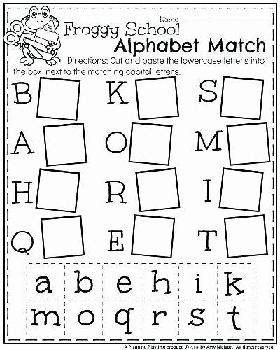 Alphabet Matching Worksheets for Preschoolers Awesome Worksheet Tracing the Alphabetksheets Kindergartenksheet