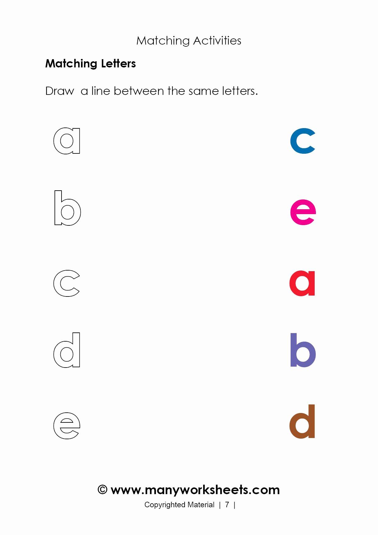 Alphabet Matching Worksheets for Preschoolers Beautiful Alphabet Worksheet Matching for You Alphabet Worksheet