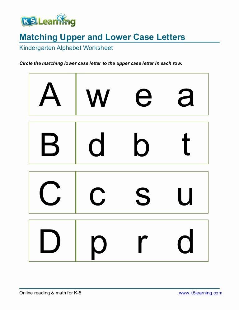 Alphabet Matching Worksheets for Preschoolers Beautiful Kindergarten Matching Letters A B C D