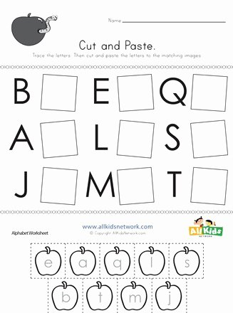 Alphabet Matching Worksheets for Preschoolers Inspirational Cut and Paste Letter Matching Worksheet